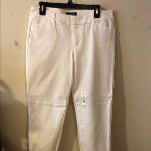 White pants from old navy with tag